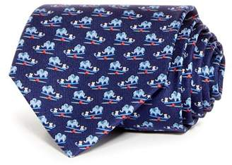 Salvatore Ferragamo Elephant & Mouse Classic Silk Tie