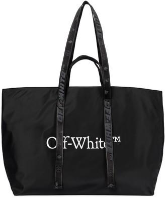 Off-White Commercial logo nylon tote