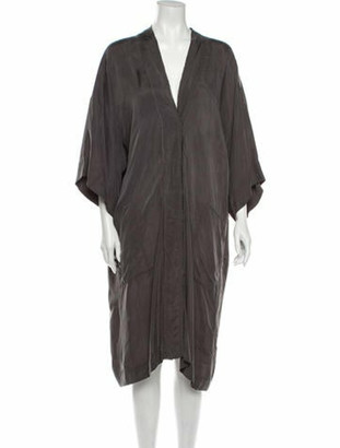 Lanvin V-Neck Midi Length Dress Grey