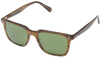 Oliver Peoples Lachman Sun (Black/Midnight Express Polarized) Fashion Sunglasses