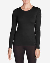 Eddie Bauer Women's Lightweight FreeDry® Merino Hybrid Baselayer Long-Sleeve Crew