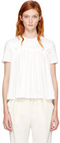 Edit White Gathered T-shirt