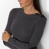 Lauren Ralph Lauren Ralph Cotton Zip Crewneck Top
