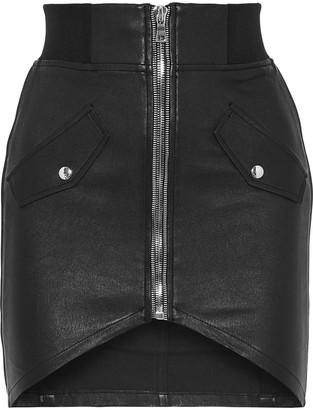 RtA Isla Leather Mini Skirt