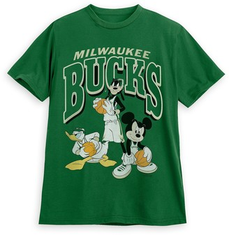 Disney Mickey Mouse and Friends Milwaukee Bucks T-Shirt for Adults by Junk Food