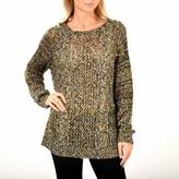 Point Zero Women's Long-Sleeved Cable Front Keyhole Back Sweater