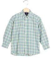 Oscar de la Renta Boys' Gingham Collared Shirt