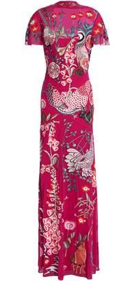 Temperley London Woodland Embroidered Silk-organza Gown
