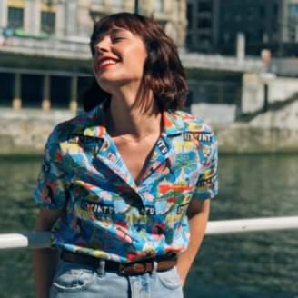 Atakontu - VINALES Girl Shirt - Size S | cotton | blue - Blue/Blue