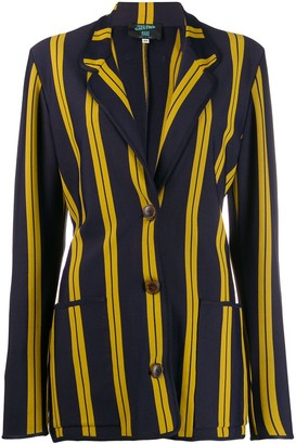 Jean Paul Gaultier Pre Owned 1991 Striped single breasted blazer