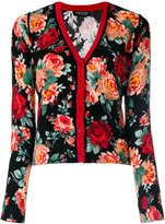 Twin-Set floral embroidered cardigan - women - Polyamide/Polyester/Viscose - S