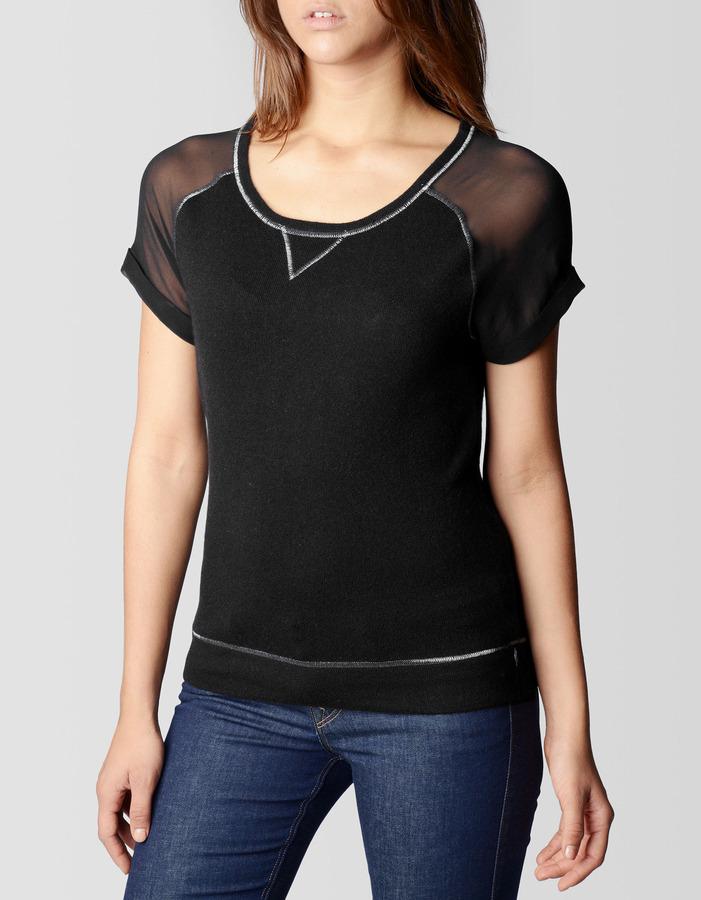 True Religion Short Sleeve Sleeve Cashmere Womens Top