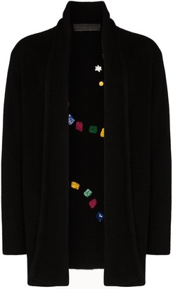 The Elder Statesman Game Board Italy embroidered cardigan