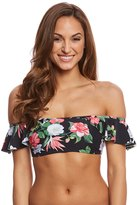 Vince Camuto Tropical Ruffle Bandeau Bikini Top 8160371