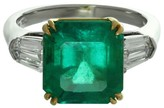 Bulgari Platinum Colombia Emerald Diamond Ring