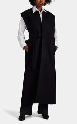 Jil Sander Women's Lome Wool Felt Belted Vest Coat - Navy