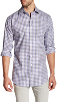Peter Millar Melange Plaid Long Sleeve Regular Fit Shirt