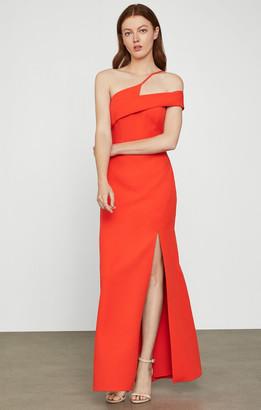 BCBGMAXAZRIA Off-Shoulder Slit Gown