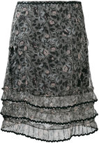 Coach printed skirt - women - Silk/Polyamide/Polyester/Viscose - 2