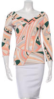 Emilio Pucci Printed Three-Quarter Sleeve Top