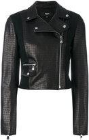 Versus embossed crocodile effect biker jacket