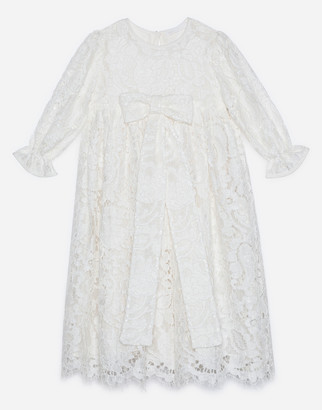 Dolce & Gabbana Long-Sleeved Galloon Lace Dress