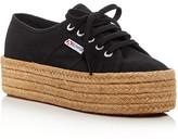 Superga Cotropew Lace Up Platform Espadrille Sneakers