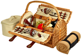 Picnic at Ascot Sussex Picnic Basket for Two with Blanket