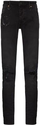 Neuw Iggy paint splatter-effect distressed jeans