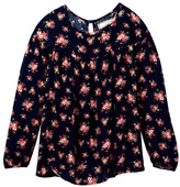 Soprano Long Sleeve Floral Gauze Top (Big Girls)