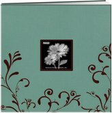Pioneer 12-Inch by 12-Inch Postbound Scroll Embroidery Fabric Frame Cover Memory Book