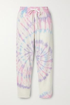 Splits59 Reena Cropped Tie-dyed Stretch-modal Track Pants