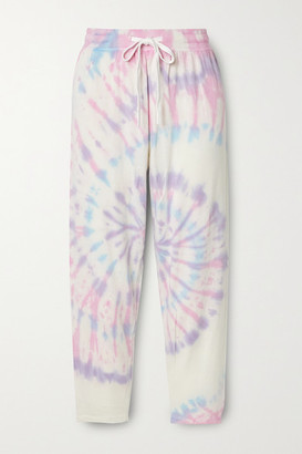 Splits59 Reena Cropped Tie-dyed Stretch-modal Track Pants - Blue