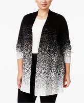 Charter Club Plus Size Ombré Duster Cardigan, Only at Macy's