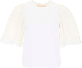 See by Chloe Embroidered Detail T-Shirt