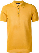 Roberto Collina textured polo shirt - men - Cotton - 48