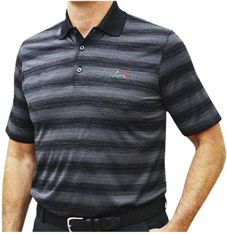 Greg Norman Men's Short Sleeve Golf Polo (Black-120 Large)