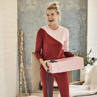 Summersalt The Softest French Terry Pullover - Pinot & Pink Sky