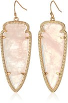 Kendra Scott Gold and Rose Quartz Skylar Drop Earrings