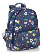 Bari Lynn Mini Emoji Print Cotton Denim Backpack