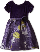 Us Angels Velvet/Brocade Cap Sleeve w/ Flower & Full Skirt (Toddler)