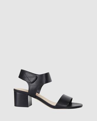 Ravella - Women's Black Heeled Sandals - Elesha - Size One Size, 6 at The Iconic