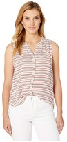NYDJ Sleeveless Pintuck Pleat Back (Ric Rac Stripe) Women's Sleeveless