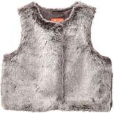 Joe Fresh Kid Girls' Faux Fur Vest, Brown (Size M)