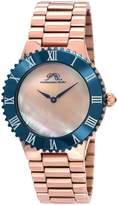 Porsamo Bleu Women's Lexi Rose Gold Tone Stainless Steel Watch, 46mm