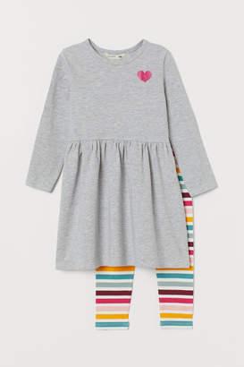 H&M Dress and Leggings - Gray