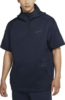 Nike Pro Hooded Half Zip Spacer Knit Shirt