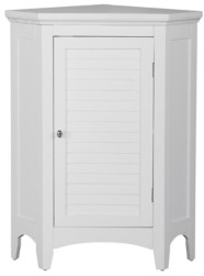 Elegant Home Fashions Slone Corner Floor Cabinet with 1 Shutter Door