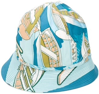 Hermes Pre-Owned Abstract Print Bucket Hat