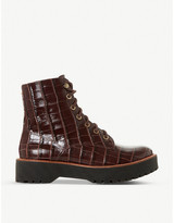 Bertie Paper embossed leather boots